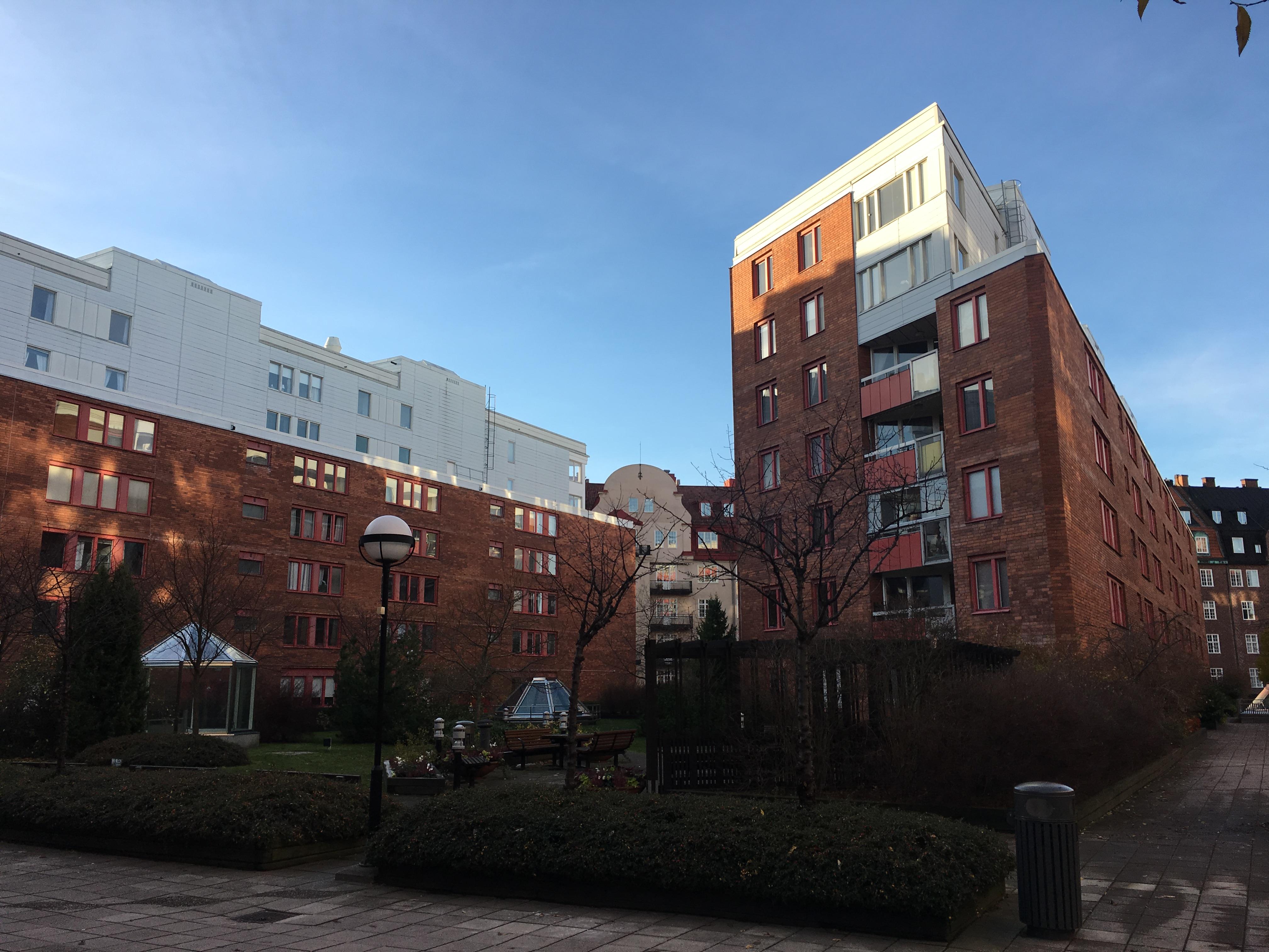 Stamspolning brf Fältöversten i Stockholm.